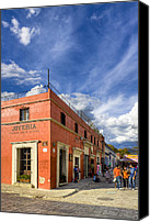 Mark Tisdale Canvas Prints - Walking The Colorful Streets Of Oaxaca Canvas Print by Mark E Tisdale