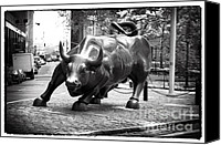 John Rizzuto Canvas Prints - Wall Street Bull 1990s Canvas Print by John Rizzuto