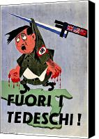 Adolf Canvas Prints - War Poster - WW2 - Out With The Fuhrer Canvas Print by Benjamin Yeager