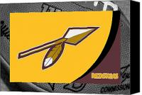 Redskins Canvas Prints - Washington Redskins Canvas Print by Joe Hamilton