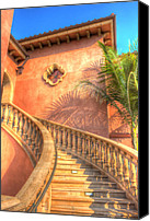 Stairs Special Promotions - Watch Your Step And Welcome Canvas Print by Heidi Smith