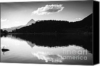 Grey Clouds Canvas Prints - Water reflection black and white Canvas Print by Matthias Hauser