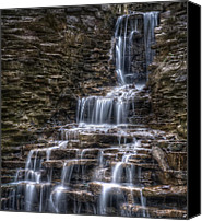 Fall Canvas Prints - Waterfall 2 Canvas Print by Scott Norris