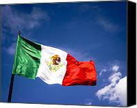 Mark Tisdale Canvas Prints - Waving the Mexican Flag Canvas Print by Mark E Tisdale