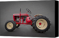 Red Tractors Canvas Prints - Wheel Horse Canvas Print by Debra and Dave Vanderlaan