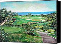 Golf Course Canvas Prints - White Witch Golf Course 1 Canvas Print by Ewan  McAnuff