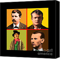 Jesse James Canvas Prints - Wild Wild West 20130518 square Canvas Print by Wingsdomain Art and Photography