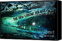 Time For Change Canvas Prints - Will You Survive? The New Coming Ice Age Canvas Print by Absinthe Art  By Michelle Scott