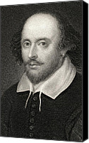 William Drawings Canvas Prints - William Shakespeare Canvas Print by English School