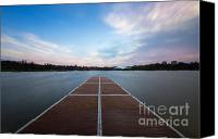 Lake Photo Special Promotions - Wimbledon Park Sunset Canvas Print by Matt Malloy