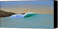 Beaches Reliefs Canvas Prints - Windswept Canvas Print by Nathan Ledyard