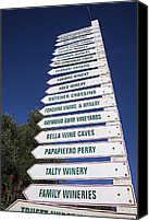 Blue Point Canvas Prints - Wine country signs Canvas Print by Garry Gay