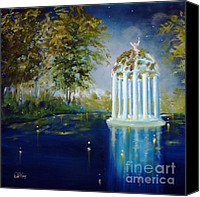 Bright Painting Special Promotions - Wings of Love Gazeebo Canvas Print by David Kacey
