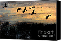 Sundown Pastels Canvas Prints - Winter Excursion Canvas Print by R Kyllo