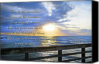 Inspirational Saying Canvas Prints - Words to Live By Canvas Print by East Coast Barrier Islands Betsy A Cutler