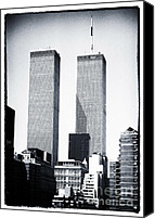 John Rizzuto Canvas Prints - World Trade Center 1990s Canvas Print by John Rizzuto
