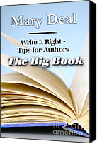 Mary Deal Canvas Prints - Write It Right - Tips for Authors - The Big Book Canvas Print by Mary Deal