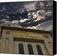 Stadium Design Canvas Prints - Yankee Stadium NY Canvas Print by Chris Thomas