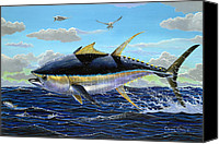 Grouper  Canvas Prints - Yellowfin crash Canvas Print by Carey Chen