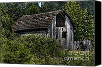 Farming Barns Canvas Prints - Yesteryear Barn Canvas Print by Jean OKeeffe
