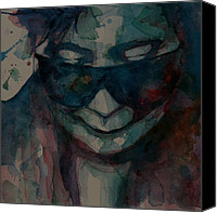 Photo  Painting Canvas Prints - Yoko  I Dont Know Why Canvas Print by Paul Lovering