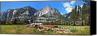  Yosemite Canvas Prints - Yosemite Meadow panorama Canvas Print by Jane Rix