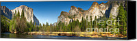 Sierra Canvas Prints - Yosemite valley and merced river Canvas Print by Jane Rix