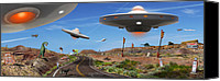 Ufo Canvas Prints - You Never Know . . .  Canvas Print by Mike McGlothlen