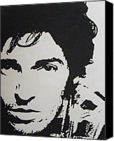 Springsteen Canvas Prints - Young Boss Canvas Print by IDGoodall