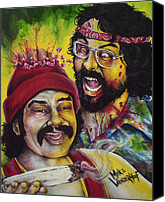 King Mike V Canvas Prints - Zombie Cheech and Chong Canvas Print by Michael Vanderhoof