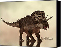 Natural History Canvas Prints - Zuniceratops Dinosaur Canvas Print by Bob Orsillo