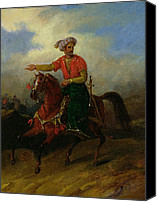 Barbarian Canvas Prints -  An Ottoman on Horseback  Canvas Print by Charles Bellier