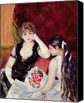 White Gloves Canvas Prints -  At the Concert Canvas Print by Pierre Auguste Renoir
