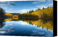 Mclellan Lake Canvas Prints -  Autumn in the Wasatch Mountains Canvas Print by Utah Images