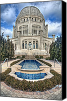 Cathedral Canvas Prints -  Bahai Temple Canvas Print by Scott Norris