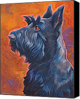 Scottie Dog Canvas Prints -  Beam Me Up Scottie Canvas Print by Shawn Shea