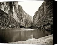 Big Bend Canvas Prints -  Big Bend National Park and Rio Grand River Canvas Print by M K  Miller