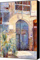 Saudi Canvas Prints -  Blue Door  Canvas Print by Dorothy Boyer