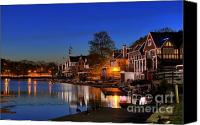Boathouse Canvas Prints -  Boathouse Row  Canvas Print by John Greim