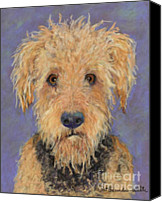 Soft Pastel Pet Portrait Canvas Prints -  Dj Canvas Print by Pat Saunders-White            
