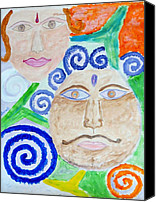 Expresion Canvas Prints -  Faces Canvas Print by Sonali Gangane
