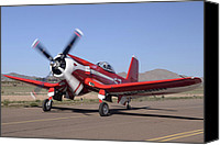 Casa Grande. Canvas Prints -  Goodyear F2G-1 Corsair NX5588N Race 57 Cactus Fly-in March 3 2012 Canvas Print by Brian Lockett