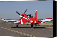 Casa Grande. Canvas Prints -  Goodyear F2G-1 Corsair NX5588N Race 57Cactus Fly-in March 2 2012 Canvas Print by Brian Lockett