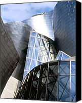 Guggenheim Canvas Prints -  Guggenheim 2 Bilbao Spain Canvas Print by Linda  Parker