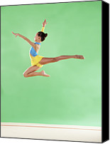 Color Stretching Canvas Prints - Gymnast,  Mid Air, Jump, Profile Canvas Print by Emma Innocenti