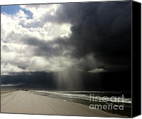 Topsail Island Canvas Prints -  Hurricane Glimpse Canvas Print by Karen Wiles