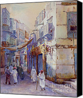 Saudi Canvas Prints -  Hurrying Home Canvas Print by Dorothy Boyer