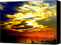 Tropical Sunset Canvas Prints -  Imagine Canvas Print by Karen Wiles