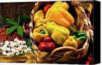 Digital Posters Photo Canvas Prints -  Italian Peppers  Canvas Print by Harry Spitz