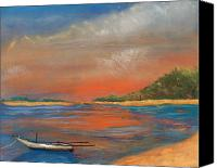 Tropical Sunset Pastels Canvas Prints -  Koh Samui Canvas Print by Michael Brennan